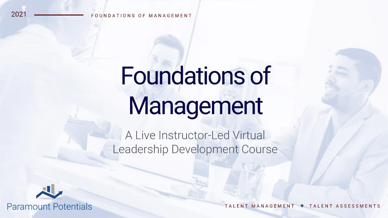Watch the Foundations of Managment Webinar